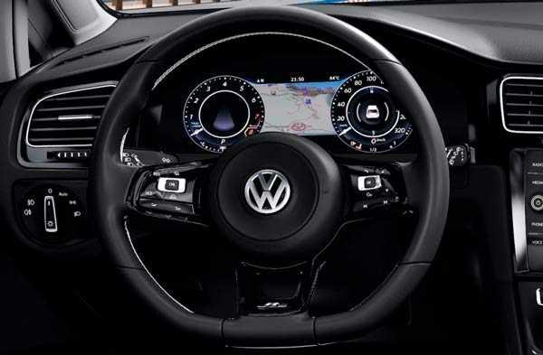 Volkswagen Golf R interior fotos