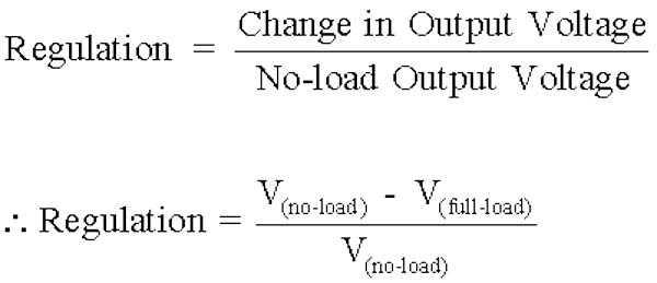 regulacion voltaje calcular